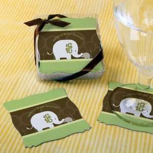 Elephant   Personalized Baby Shower Coasters (Set of 15) Toys & Games
