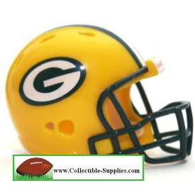 NEW GREEN BAY PACKERS POCKET PRO NFL FOOTBALL HELMET