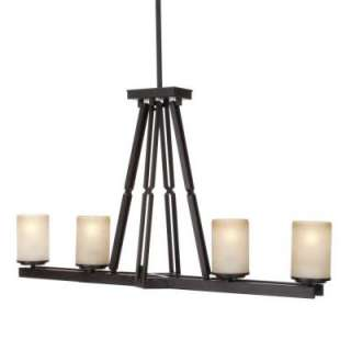Hampton Bay Alta Loma 4 Light 72 3/4 in. Dark Ridge Bronze Island