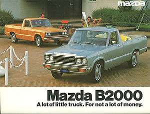 1979 MAZDA B2000 PICKUP Truck Brochure / CatalogB 2000, Pick Up, Long