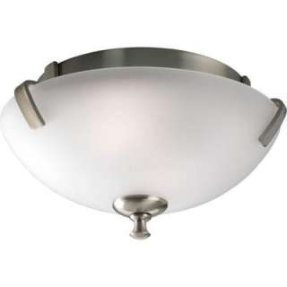Progress Lighting Wisten Collection Brushed Nickel 2 light Flushmount