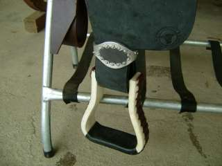 15 METALLIC SILVER & BLACK WESTERN BARREL RACER RACING SHOW SADDLE