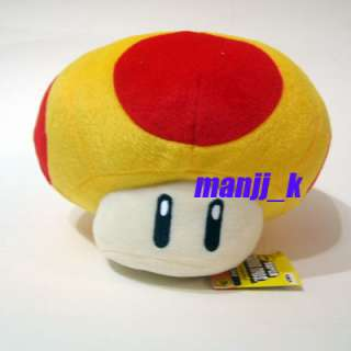 NEW 17cm Super Mario Plush Doll Figure Orange Mushroom