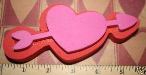 LARGE Heart Valentines Day LOVE Foam Craft STAMP NEW