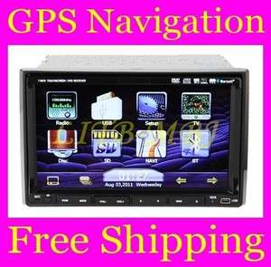 Din 7Touch Screen Rotate Car Stereo DVD Player GPS iPod BT PIP TV+MAP