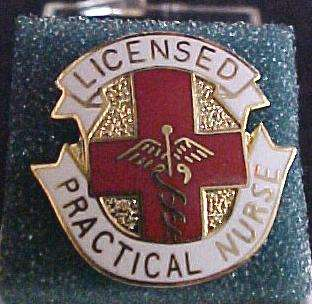 LPN Licensed Practical Nurse Insignia Emblem Pin 961