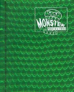 MONSTER PROTECTORS A6 ALBUM for MATCH ATTAX CARDS GREEN
