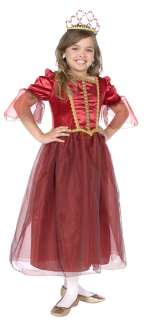 Girls Christmas Beauty Red Princess Costume   Princess Costumes