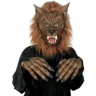 Halloween Costumes Werewolf Mask with Hands Adult