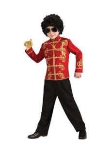 Child Michael Jackson Red Military Jacket Boys 80s Costumes at