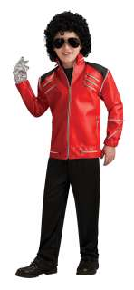 Michael Jackson Deluxe Red Zipper Jacket Child   Includes jacket. Does