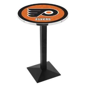 Orange Counter Height Pub Table   Square Base