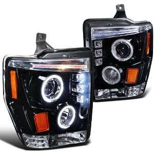 FORD F250 F350 F450 LED DUAL HALO SMOKED LENS PROJECTOR