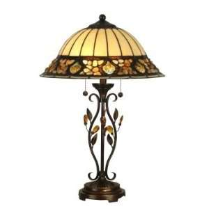 Dale Tiffany Pebblestone Table Lamp in Antique Golden Sand
