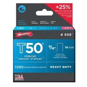 Arrow Fastener 50924 T50 Staples (Pack of 4)