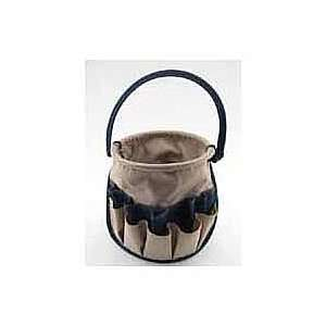 Shower Caddy   Craft Tote by Neatnix STUFF BUCKET in Tan and Navy