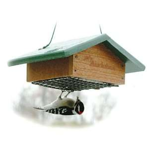 Going Green Recycled Plastic Upside Down Suet Bird Feeder