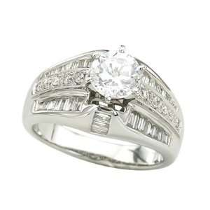 14K White Gold Diamond Bridal Set Semi Mount Bridal Engagement Ring