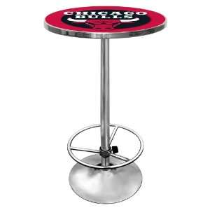 NBA Chicago Bulls Chrome Pub Table