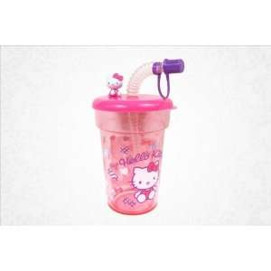 Hello Kitty Plastic Cup W/straw Ribbon  Toys & Games
