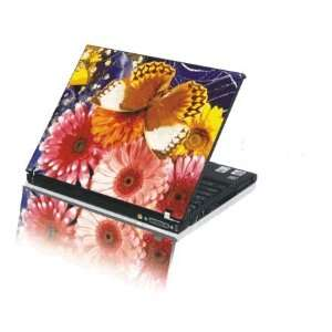 15.4 Laptop Notebook Skins Cover H214 Butterfly Flower