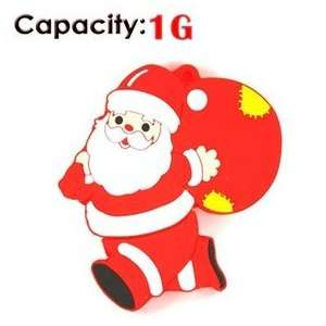 1GB Running Santa Claus USB Flash Drives Disk (Red) Electronics