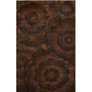 Area Rugs Brown 5 x 8 100% Wool Hand Tufted Fendi Furniture & Decor