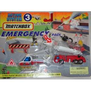 PACK, MATCHBOX FIRE ENGINE, FIRE RESCUE HELICOPTER SET Toys & Games