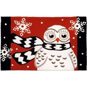 Jellybean Snow Owl Indoor Outdoor Accent Rug Patio, Lawn & Garden