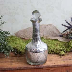 Antique Style Mercury Glass Decanter Home Decor