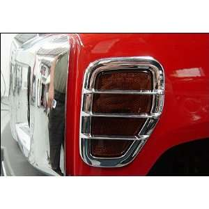 Hummer H3 Triple Chrome Plated Side Marker Light Bezel Covers (Fits