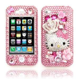 Hello Kitty Bling Swarovski Crystals Cell Phone Case Cover Compatible
