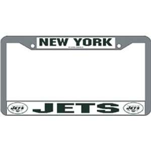 New York Jets NFL Chrome License Plate Frame  Sports