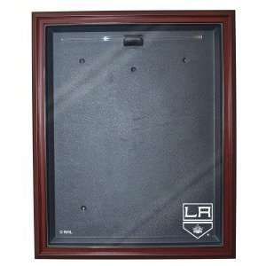 Los Angeles Kings Cabinet Style Jersey Display, Mahogany