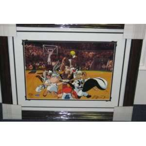 Michael Jordan Signed Looney Tunes Space Jam Cel Uda