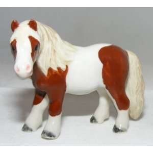 HORSE Shetland Pony Chestnut Pinto Stands New MINIATURE
