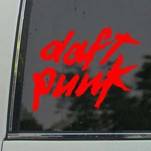Daft Punk Red Decal Rock Band Car Truck Window Red Sticker