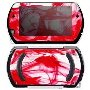 Sony PSP Go Skin Decal Sticker   Rose Red