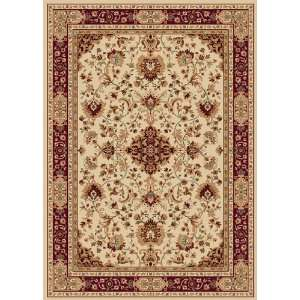 Machine Made Bulgarian Madlena Collection Ivory/Red Color Rug Home