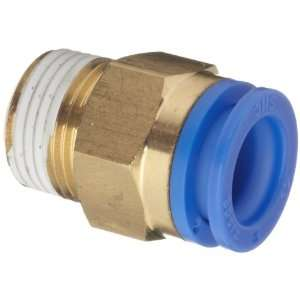 SMC KQ Series Brass Push to Connect Tube Fitting, Connector with