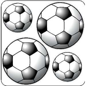 Peel And Stick Soccer Balls Stickers Decals Wall Art Item
