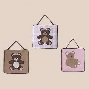 Teddy Bear Pink Wall Hangings
