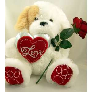 Valentines Day Gift Stuffed Plush Dog Teddy Bear W/ Heart