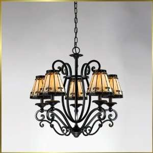 Tiffany Chandelier, QZTF5168IB, 5 lights, Antique Bronze, 26 wide X