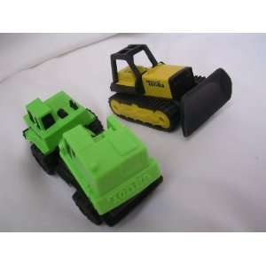 Tonka Die Cast Bulldozer Truck Construction Set of 2 Toys