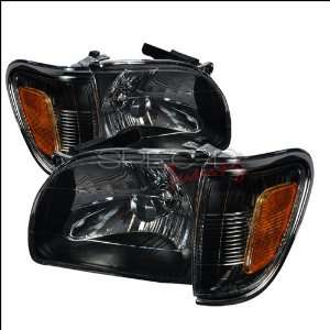 Toyota Tacoma 2001 2002 2003 2004 Euro Headlights   Black