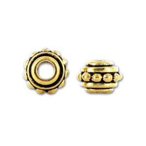 Antique Gold 7mm Beaded Spacer Arts, Crafts & Sewing