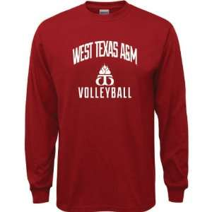 Buffaloes Cardinal Red Youth Volleyball Arch Long Sleeve T Shirt