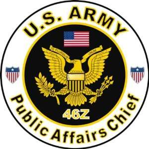 United States Army MOS 46Z Public Affairs Chief Decal