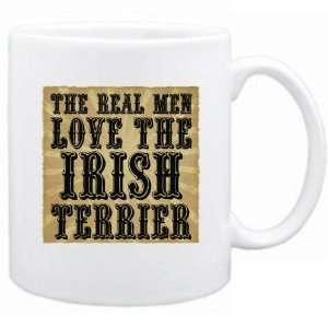New  The Real Men Love The Irish Terrier  Mug Dog